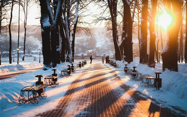 Russia-Kaluga-winter-park-snow-bench-trees-sunrise_m.jpg