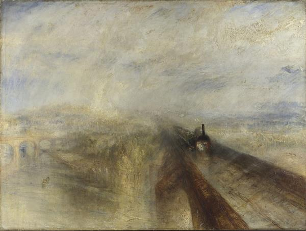 (4)J.M.W. Turner, Rain, Steam, and Speed – The Great Western Railway 1844  泰納的〈雨、蒸汽和速度—西部大鐵路〉.jpg
